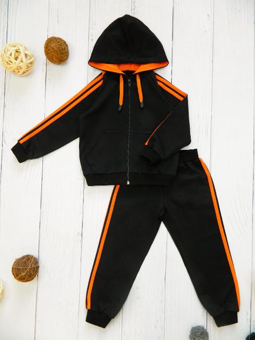 Костюм 3041, черно-оранжевый