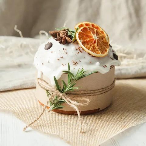 Фотография Кулич «Царский» на закваске с апельсином / 600 гр купить в магазине Афлора