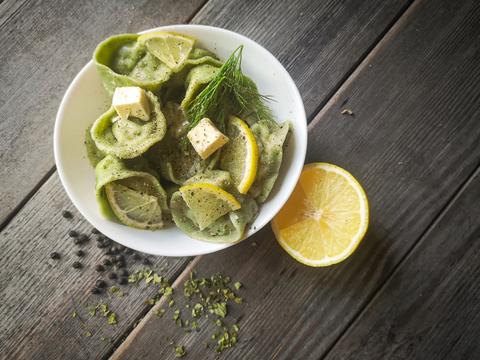вариант подачи - с маслом и лимоном
