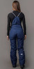 Премиальный теплый зимний костюм Nordski Mount Dark Blue/Pink женский с высокой спинкой