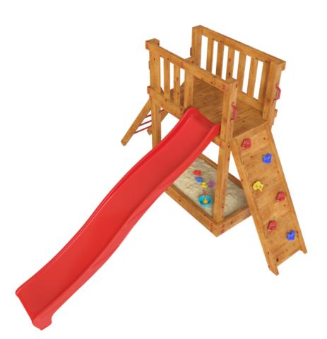 Детская деревянная игровая площадка Мальта