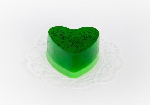 Мыльное ассорти/сердце: КИВИ, 90 гр/шт