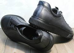 Молодежные кеды мужские демисезонные Komcero 9K9154-734 Black-Grey