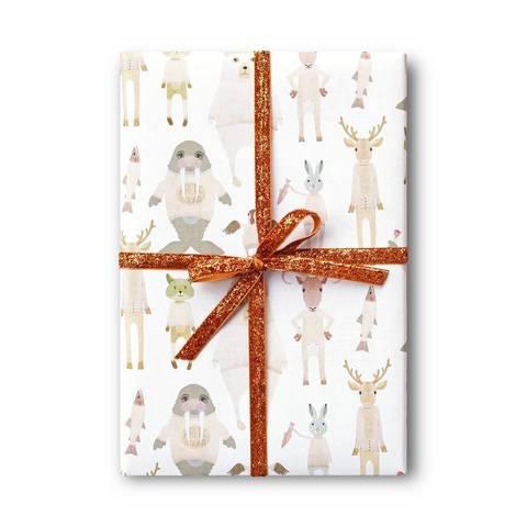 Упаковочная бумага Arctic animals