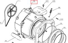 Бак в сборе с барабаном для стиральной машины Electrolux (Электролюкс) 1327482004
