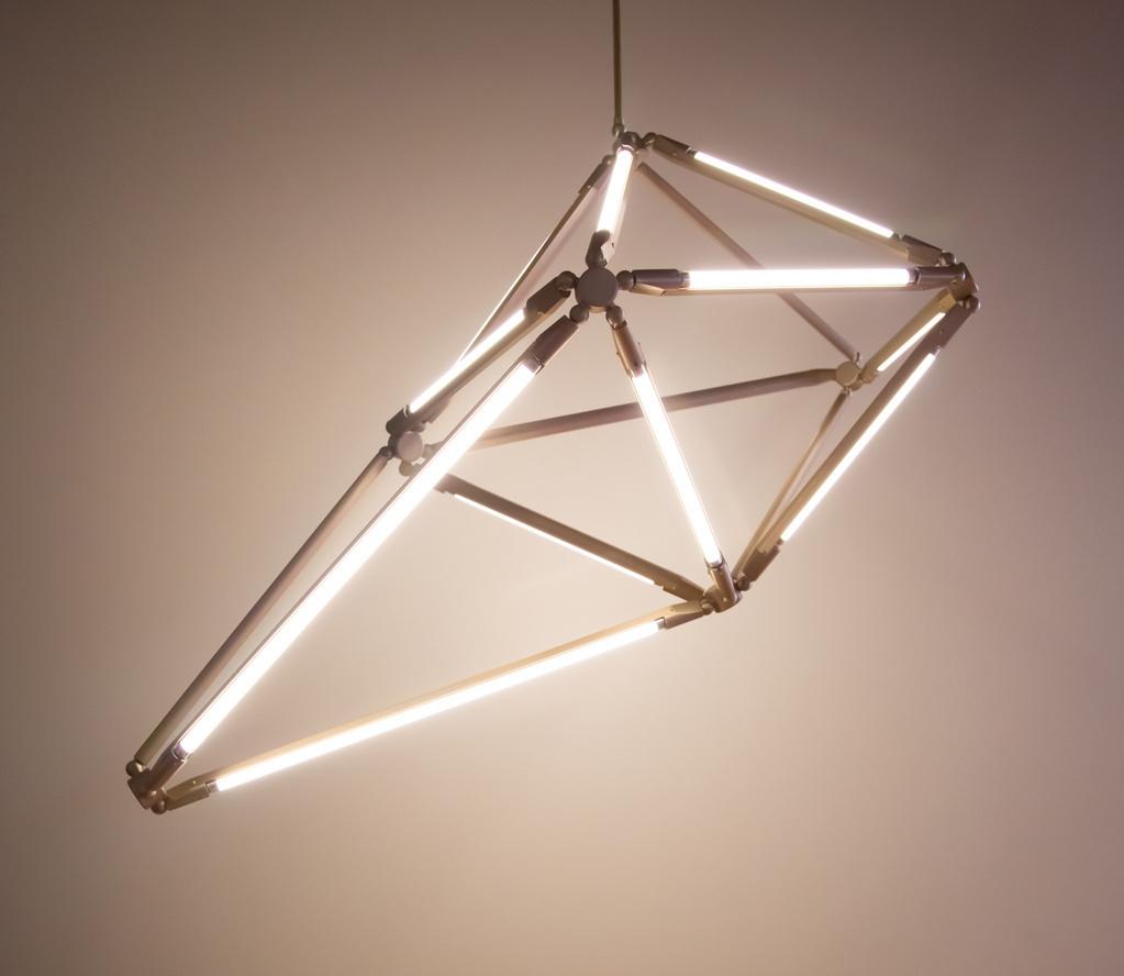 Потолочный светильник копия Shy by Bec Brittain (9 рук, вертикальный)
