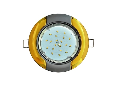 Ecola Светильник GX53 H4 Волна золото/серебро