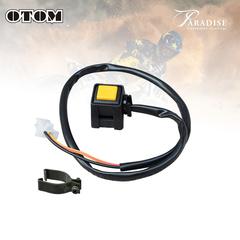 Кнопка двиг-стоп универсальная OTOM, D45-00-100 желтый