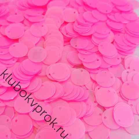 Пайетки круглые 12мм 50гр, Прозрачный розовый