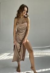 Платье длинное капучино Lilit