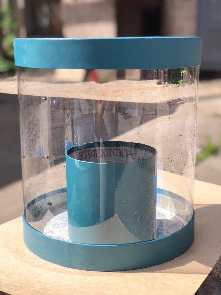 Коробка аквариум 32см Цвет :Темно зеленый  . Розница 550 рублей .