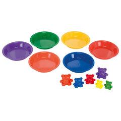 Цветные тарелки для сортировки, 6шт. Learning Resources