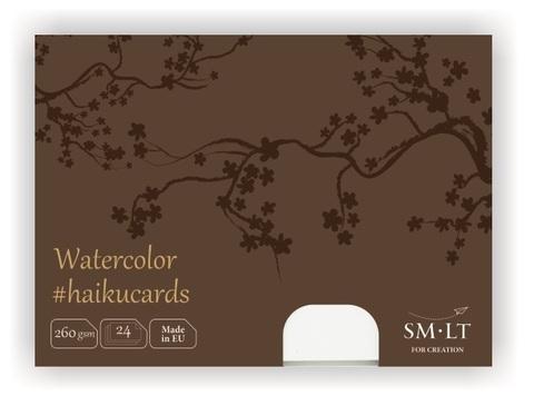 Набор открыток для акварели Watercolor #haikucards 260г/м2 (содержит хлопок) 14.7*10.6см 24 штуки