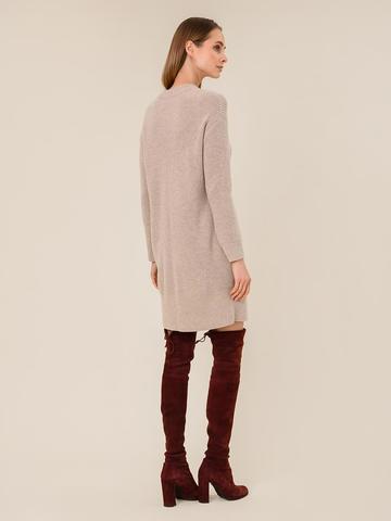 Женское платье бежевого цвета из шерсти и кашемира - фото 2