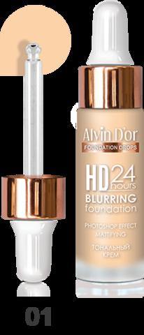 Alvin D`or BC-07 Тональный крем  Hd 24hours Blurring drops 15мл  (тон 01)