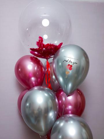 Букет воздушный шаров девушке