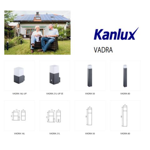 Садово-парковый светильник Kanlux VADRA 80 E27 11W антрацит