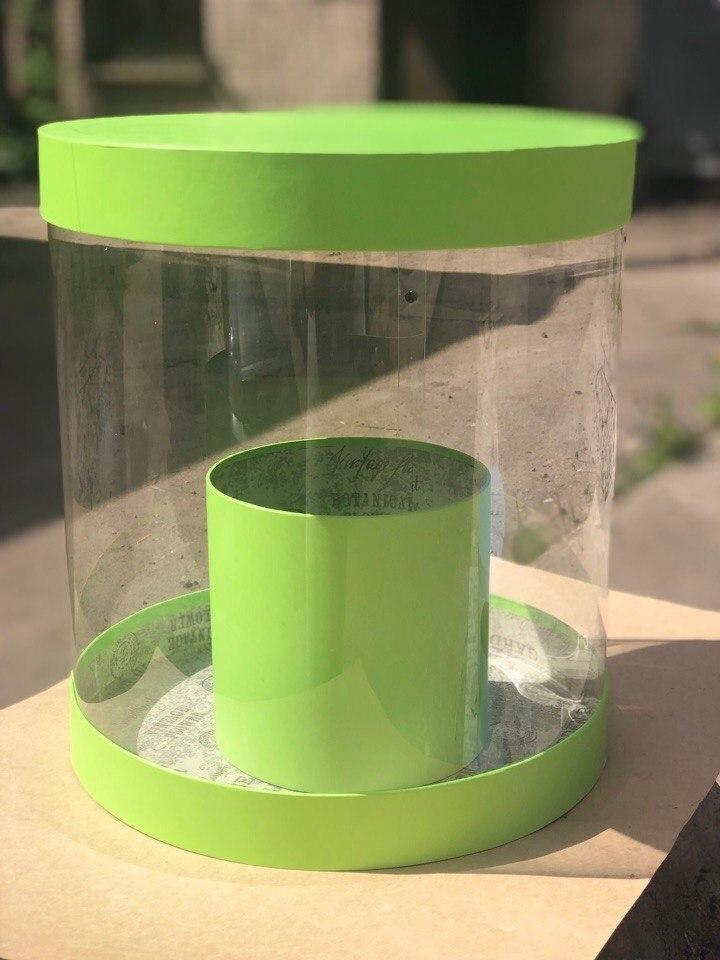 Коробка аквариум 32см Цвет :Зеленый . Розница 750 рублей .