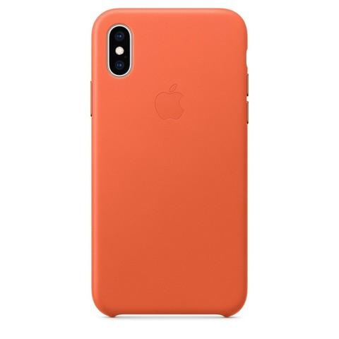 Чехол iPhone XS Max Leather Case /sunset/