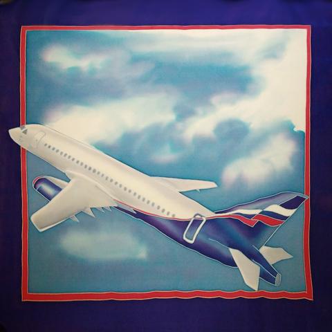 Платок корпоративный Аэрофлот 65х65 см