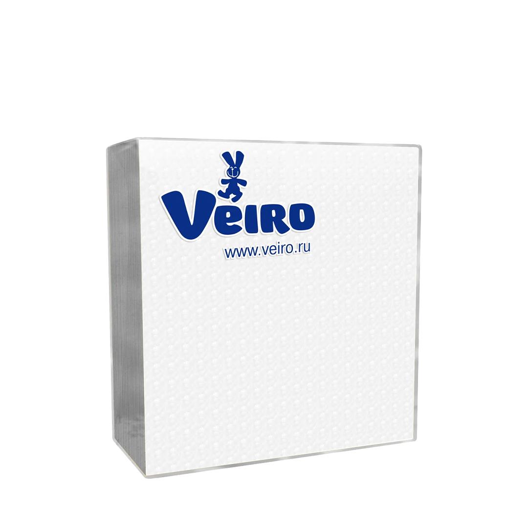 Салфетки бумажные Veiro 2-слойные, белые, 25шт