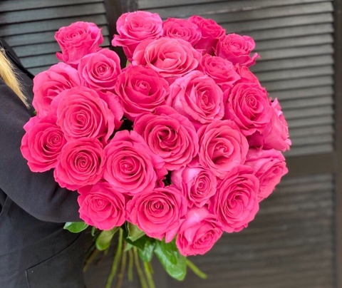 Букет из 25 эквадорских роз 70 см #33180