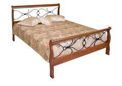Кровать 425-N 200x140 (MK-2121-RO) Темная вишня