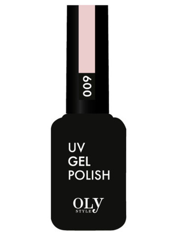 OLYSTYLE Гель-лак д/ногтей тон 009 бледно-розовый