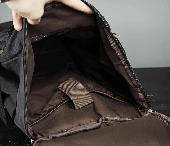 BAG368-1 Городская тканевая сумка рюкзак с ремнем на плечо фото 11