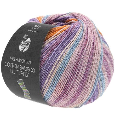 Lana Grossa Meilenweit Cotton Bamboo Butterfly 2455 купить пряжу