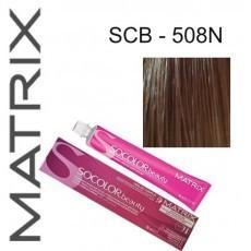 Matrix SOCOLOR.beauty: Extra-Coverage Neutral 508N светлый блондин 100% покрытие седины, краска стойкая для волос (перманентная), 90мл