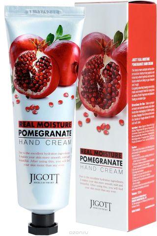 Jigott Крем для рук с гранатом Real Moisture Pomegranate Hand Cream 100 мл.