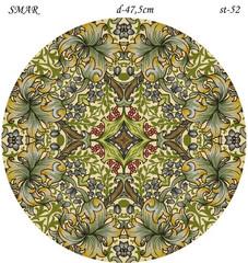 Эскиз для росписи, Круг диаметр-47,5см, SMAR-st-52