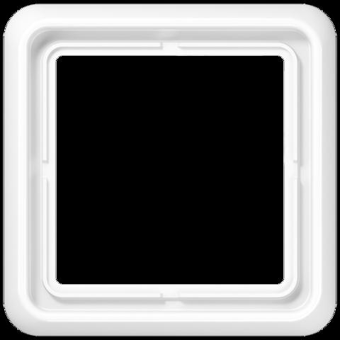 Рамка на 1 пост. Цвет Блестящий белый. JUNG CD 500. CD581WUWW