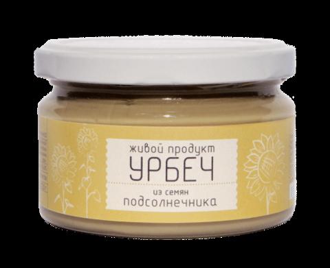 Урбеч из семян подсолнечника, 225 гр. (Живой продукт)