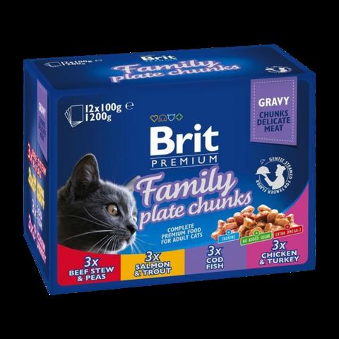 Brit Premium Cat Набор паучей для кошек Семейная тарелка