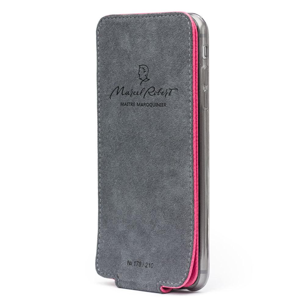 Чехол для iPhone 6/6S Plus из натуральной кожи теленка, темно-розового цвета
