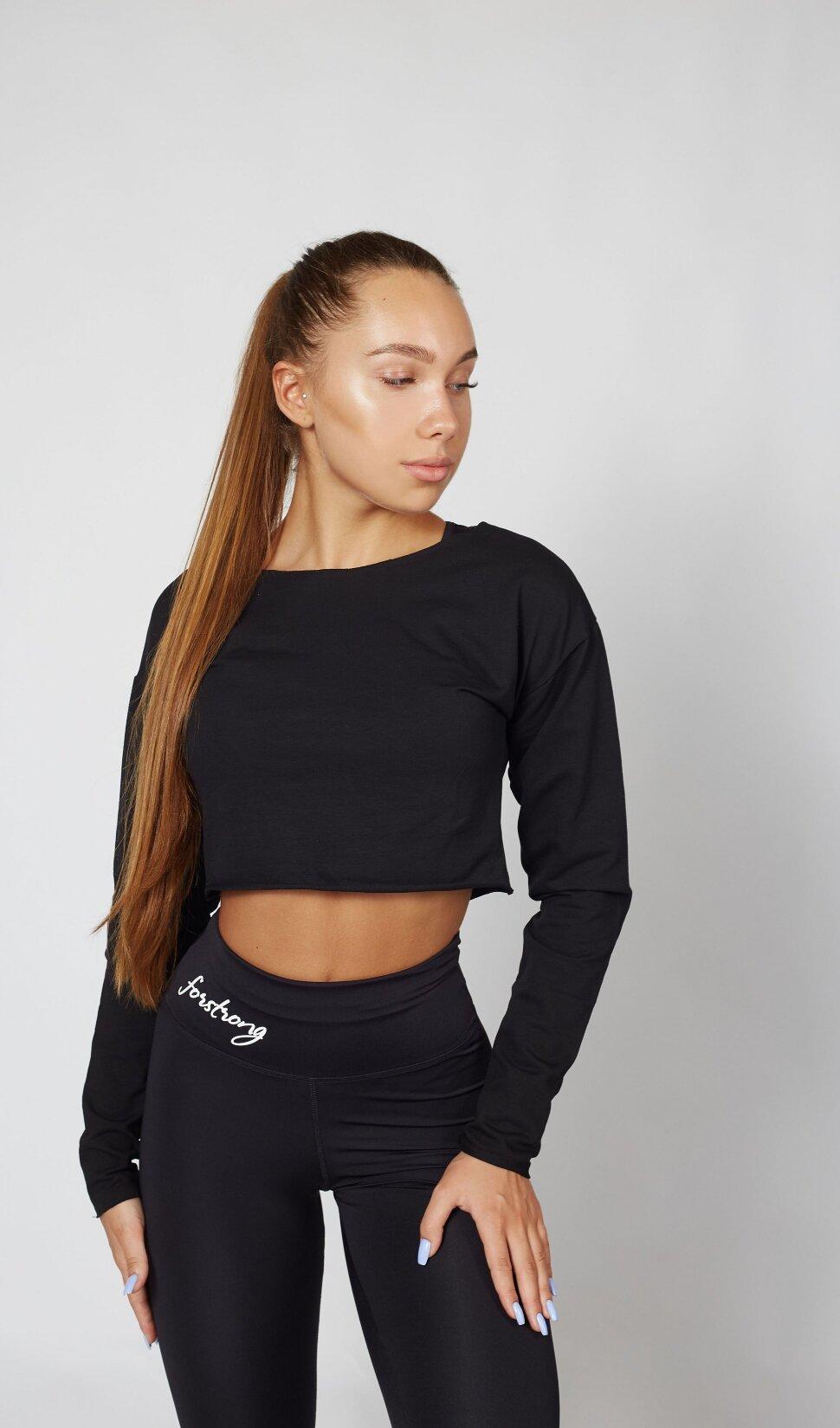 Черная спортивная толстовка Basic Hoodie для занятий спортом и повседневной носки