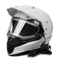 Мотошлем с подогревом MT Duo Sport, белый