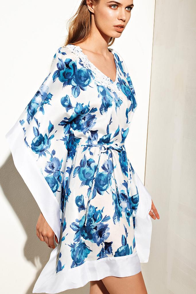 Платье кимоно с цветами Twin-Set