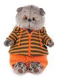 Мягкая игрушка Басик в штанах и полосатой кофте купить с доставкой по России