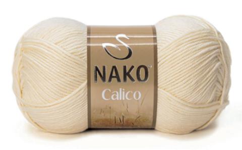 Пряжа Nako Calico песочный 3777