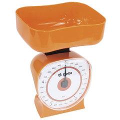 Весы бытовые настольные  5 кг DELTA КСА-106 с чашей оранжевые