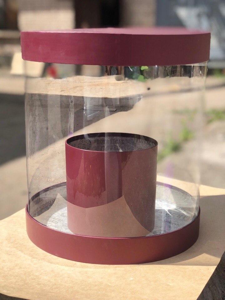 Коробка аквариум 32см Цвет :Бордо . Розница 750 рублей .