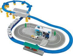 Железная дорога + гоночная трасса Big City Set (Tomy, 85402)