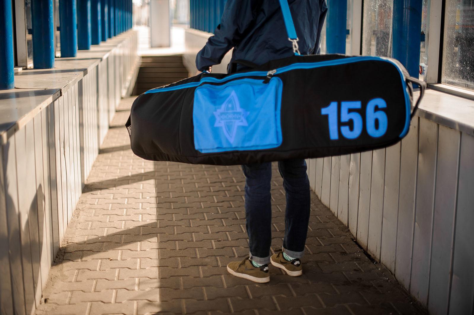 Чехол для сноуборда Born без колес 156/166 см Черный/голубой (0099290)