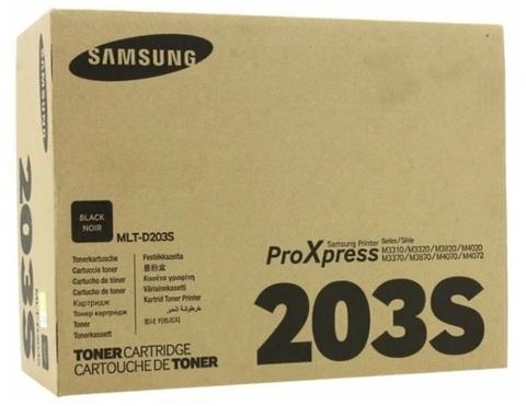 Оригинальный картридж Samsung MLT-D203S (SU909A) черный