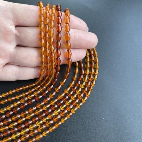 Бусины из натурального янтаря рис 7-6 мм