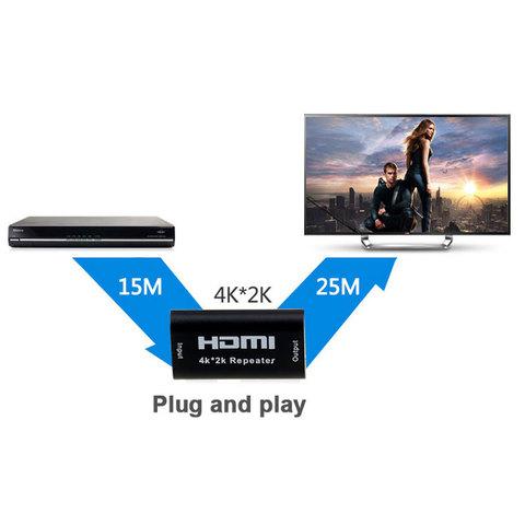 HDMI усилитель 60 м, репитер, удлинитель. Repiter HDMI 4k 3D 1.4 соединитель.