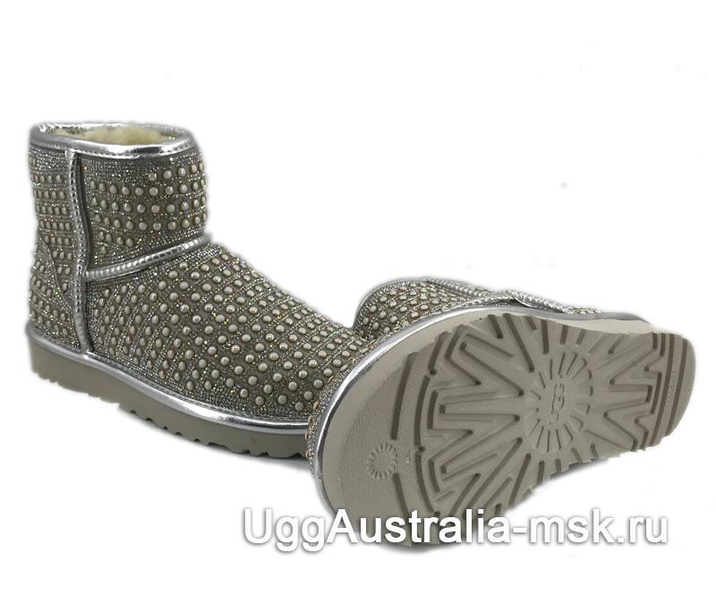 UGG Classic Mini Pearl Silver
